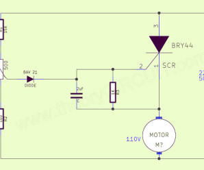 Ac power motor speed control circuit