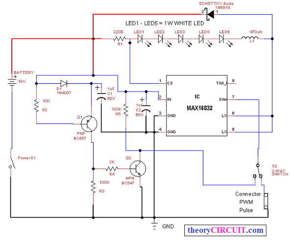High Power Led Driver Schematic Circuit Design Using Lm3434 Circuit