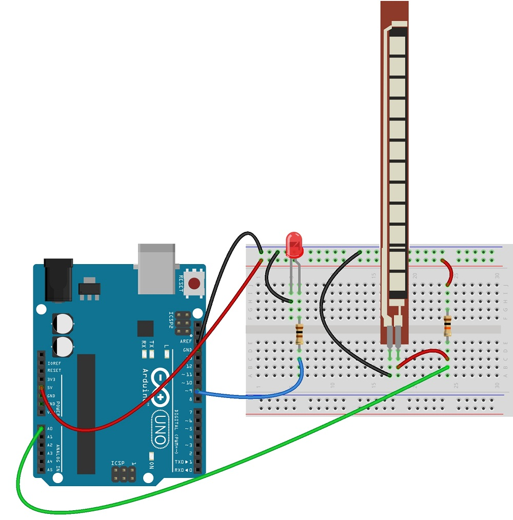 Flex Sensor with Arduino - theoryCIRCUIT - Do It Yourself ...