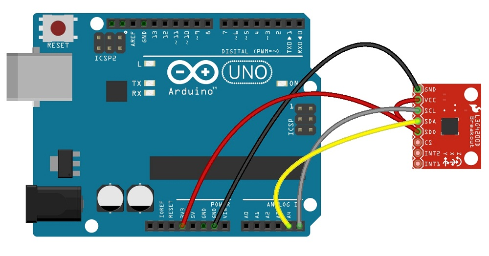 Gyroscope L3g4200d Arduino Schematic - Theorycircuit