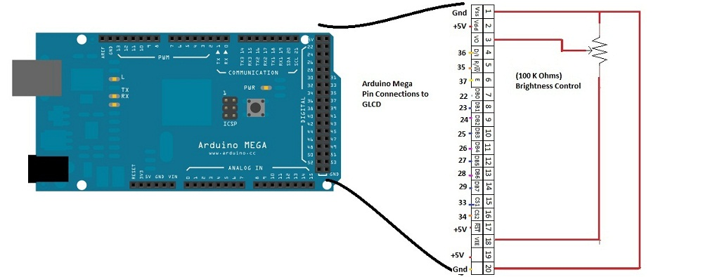 Interface GLCD with Arduino (Display your photo in GLCD