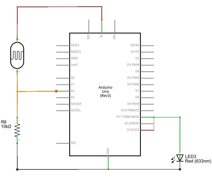 Photocell (LDR) Sensor with Arduino - theoryCIRCUIT - Do It Yourself ...