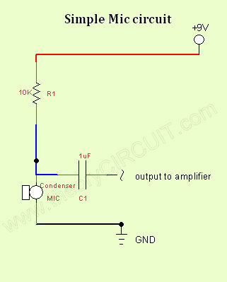 simple mic circuit theorycircuit do it yourself electronics projectsCondenser Microphone Circuit Schematic Condenser Microphone #9