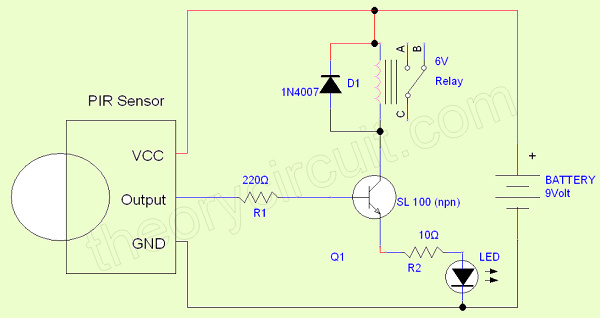 Pleasing Pir Circuit Diagram Wiring Diagram Data Wiring Digital Resources Indicompassionincorg