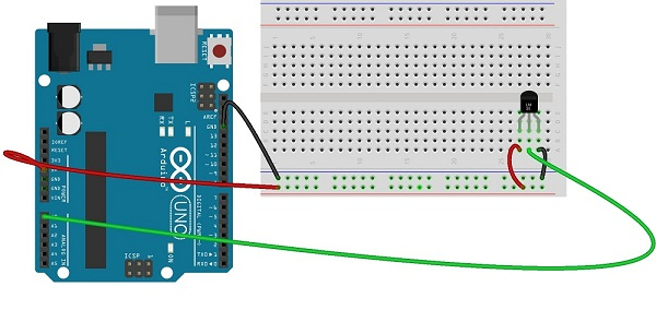 Temperatur sensor lm with arduino