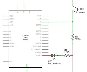 Tilt Switch arduino schematics