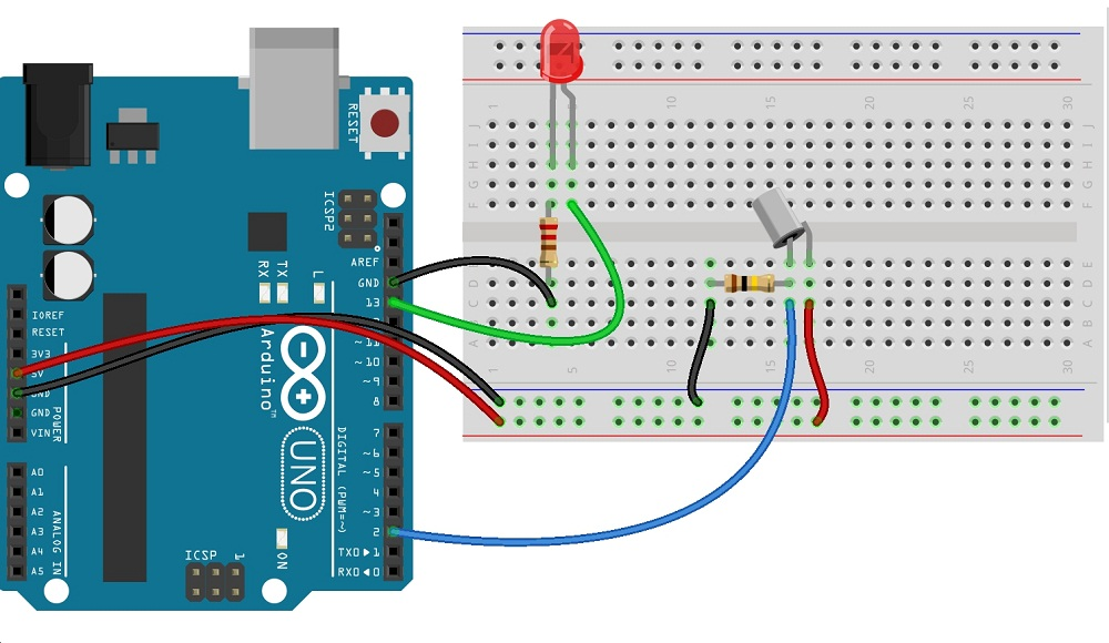 tilt switch arduino schematics theorycircuit do it yourself rh theorycircuit com Garage Door Sensor Circuit Diagram Lift Master Safety Sensor Diagram