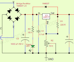 Variable Regulated Power Supply IC LM317