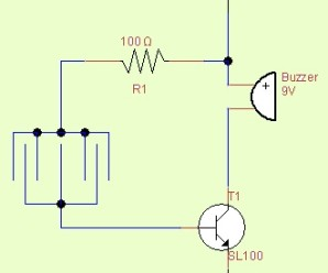 Simple Rain detector alarm circuit