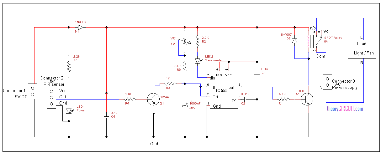 Cool Power Saver Circuit Using Pir Sensor Wiring 101 Akebretraxxcnl
