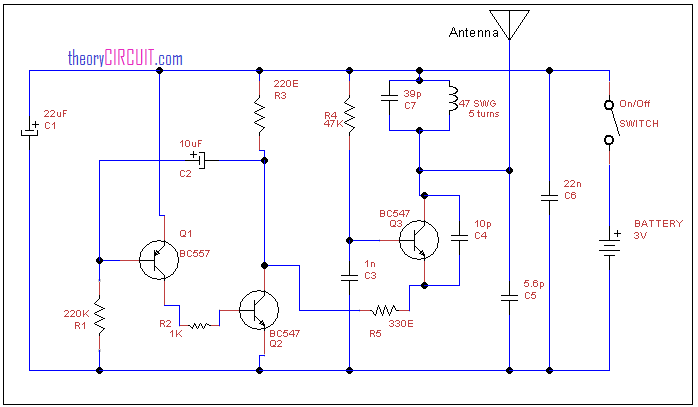 tracking transmitter circuit diagram rh theorycircuit com