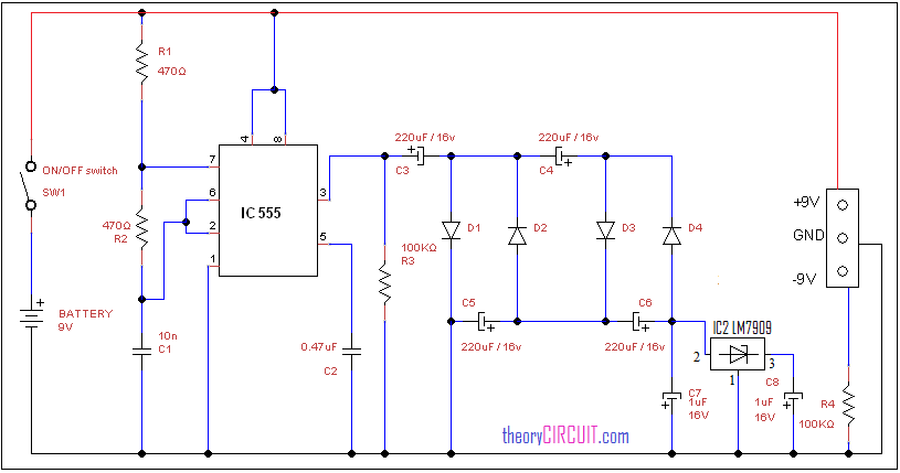 Battery Power Supply Circuit : Dual power supply from single battery