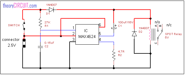 Low Voltage Relay driver circuit diagram