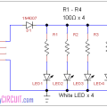 USB desktop lamp circuit