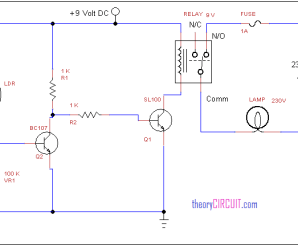 Automatic street light circuit