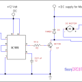 Forward Reverse DC motor control diagram with timer IC