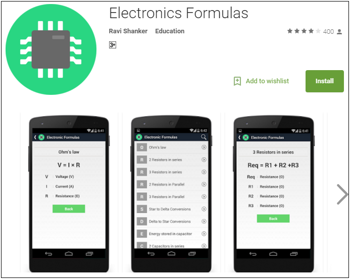 Electronics fomulas apps