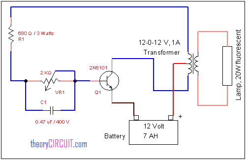 Emergency Tube Light Circuit