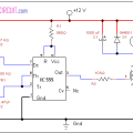 DC motor speed control using IC 555
