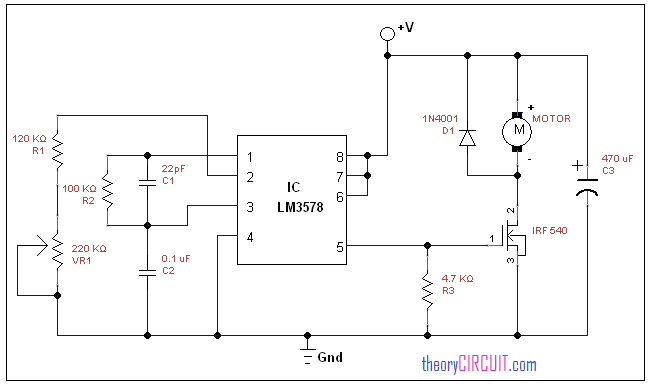 dc motor speed control using lm3578