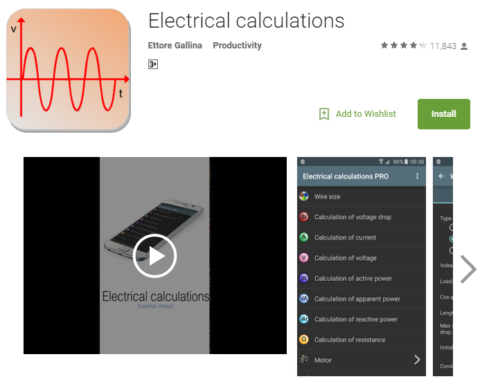 electrical calculations apps