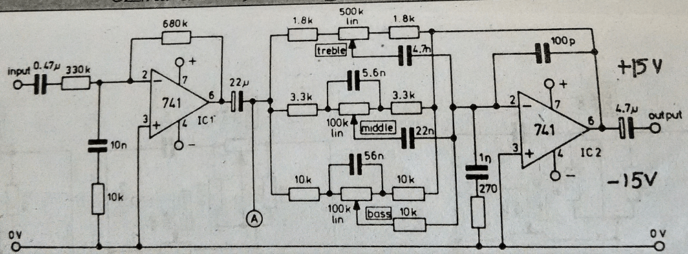 transistor audio amplifier circuit diagram