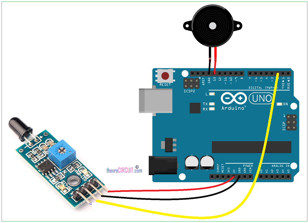 arduino flame sensor connection
