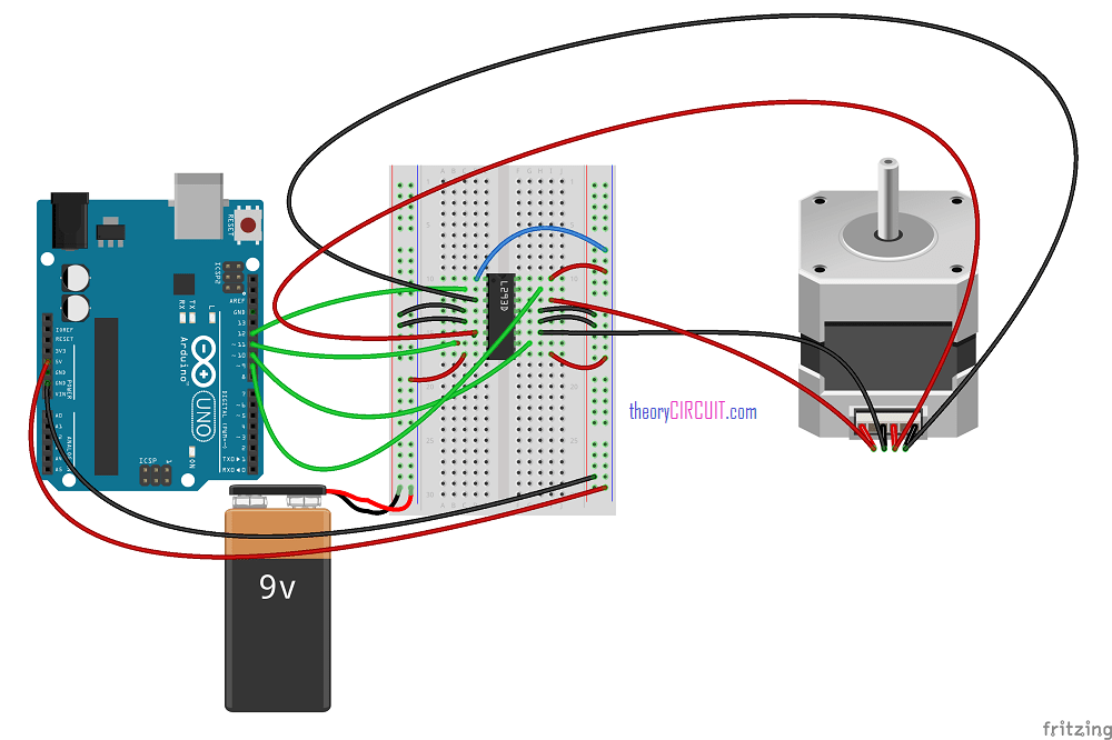 Stepper motor driver control arduino for Stepper motor position control