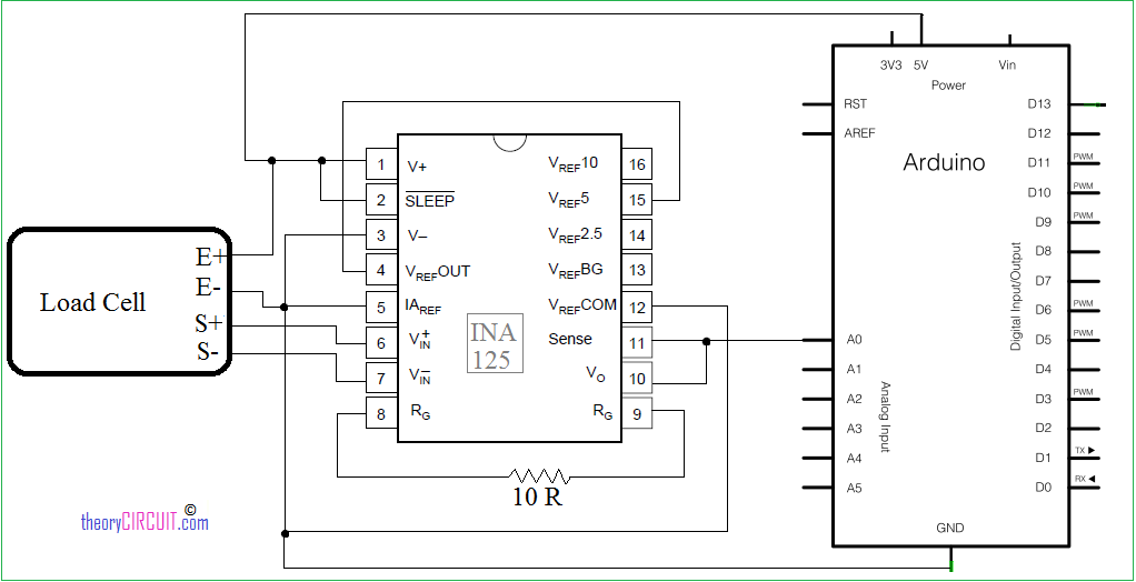 arduino load cell schematics