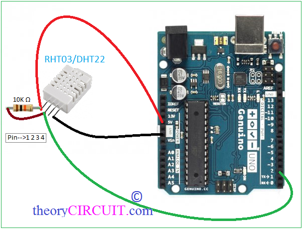 Rht humidity and temperature sensor with arduino