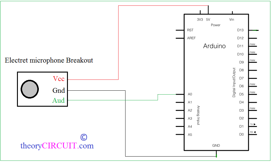 add sound detector to your arduino project rh theorycircuit com sound sensor circuit using 555 timer sound sensor circuit pdf