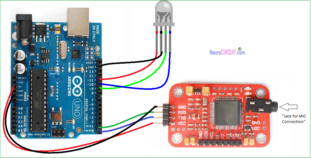 voice recognition arduino hookup