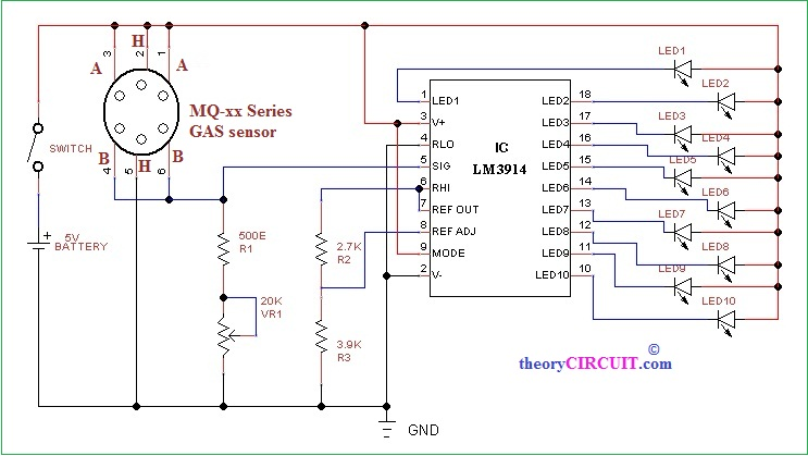 mq-gas-sensor-application-circuit-diagram