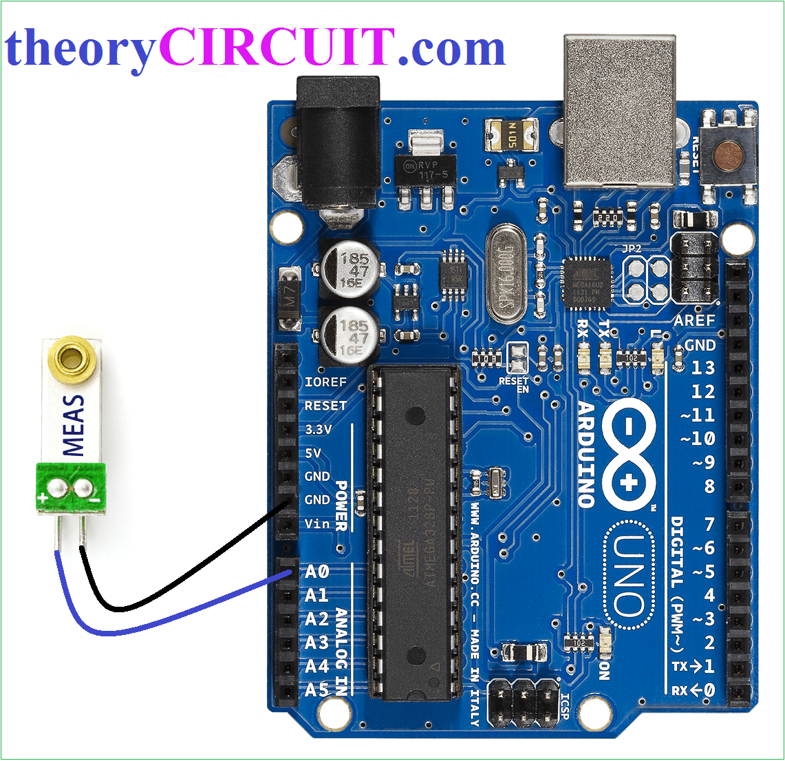 Piezo Vibration Monitoring Sensor With Arduino 232 Serial Port Circuit Diagram Amplifiercircuit Hookup