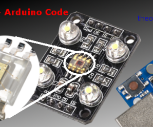 Color Sensor TCS3200 Arduino interfacing