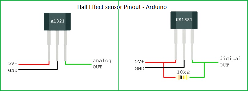 Hall Effect Sensor Arduino program on