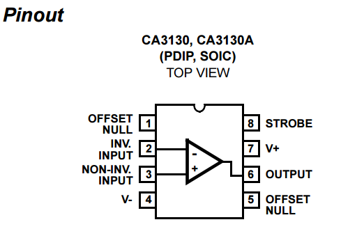 ca3130 pinout - theoryCIRCUIT - Do It Yourself Electronics