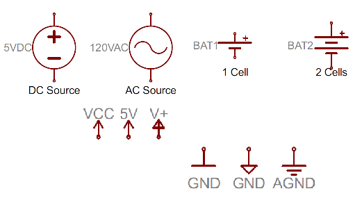 Source Dc Schematic Symbols Application Wiring Diagram