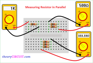 measuring resistor in parallel