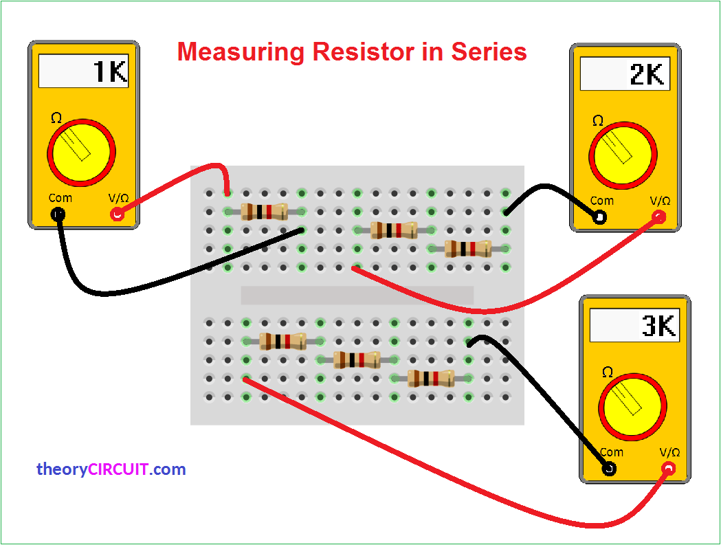 Series And Parallel Circuit Breadboard The Read Board Is Broken Up Measuring Resistors In Connection