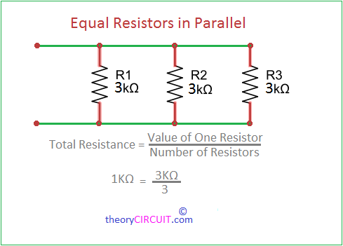 parallel resistor equivalent
