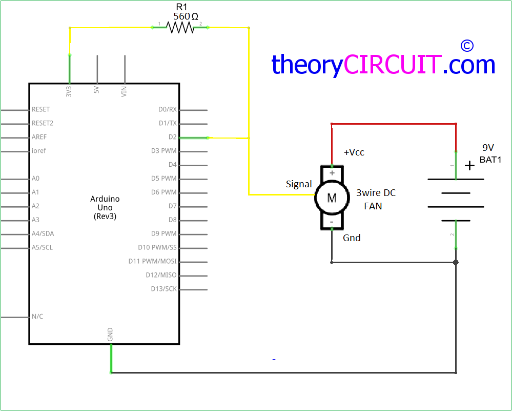 Reading Dc Fan Rpm With Arduino Traffic Light Schematic Diagram