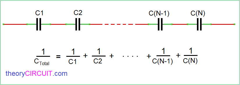 series capacitors circuit