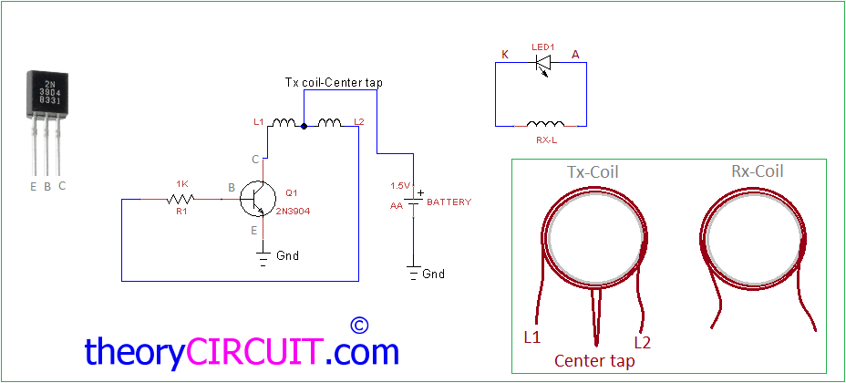 wireless led circuit