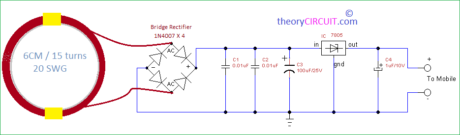 Wireless Gadgets Charger Circuit