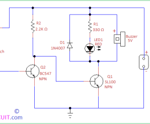 Door Open Alarm Circuit using Reed switch