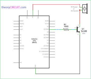 arduino melody player schematic