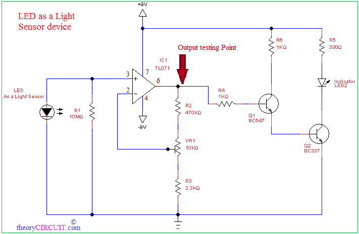 LED as a Light detector circuit