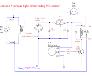 Automatic Staircase Light using PIR sensor