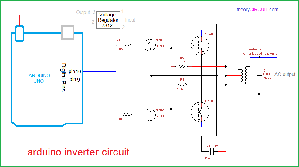 Pleasing Arduino Inverter Circuit Wiring Cloud Hisonuggs Outletorg